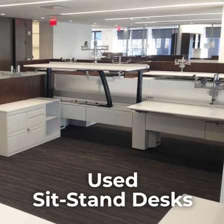 Used Sit-To-Stand Desks